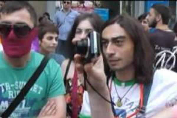 სექსუალური უმცირესობების უფლებებისათვის ბრძოლა თბილისში (VIDEO)