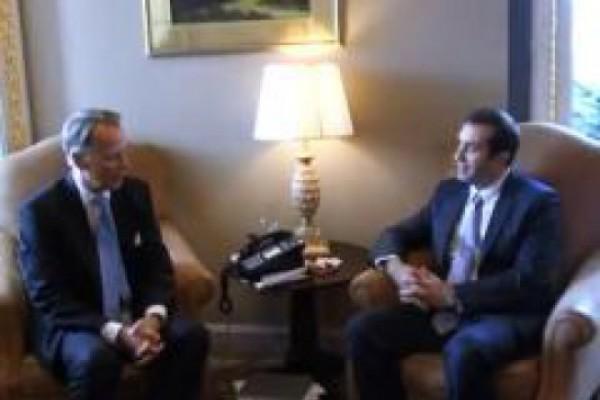 ირაკლი ალასანია ჯონ მაკკეინს და კონგრესმენებს შეხვდა (VIDEO)