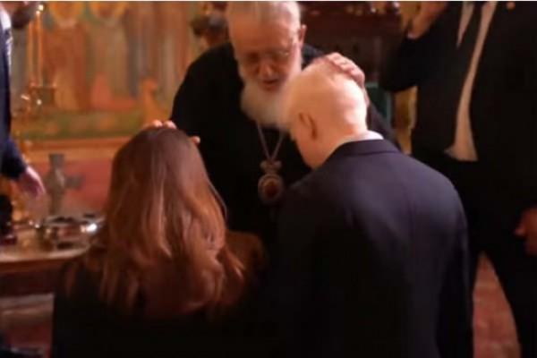 პატრიარქმა ბერა ივანიშვილი  და ნანუკა გუდავაძე ჯვრისწერის წინ დალოცა (ვიდეო)