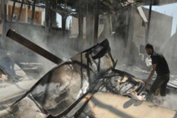 სირიელმა აჯანყებულებმა ბაშარ ასადის ტელევიზია ააფეთქეს