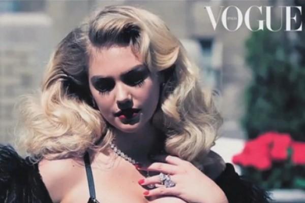 """ქეით აპტონის  """"ცხელი"""" ფოტოსესია იტალიური და ამერიკული Vogue -სთვის (VIDEO)"""