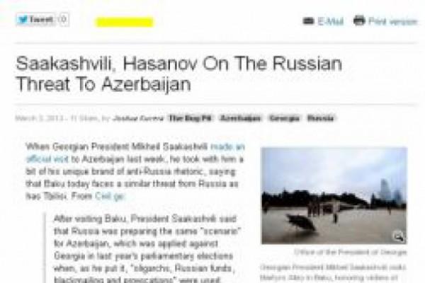 Eurasianet-ი მიხეილ სააკაშვილის განცხადებაზე სტატიას აქვეყნებს