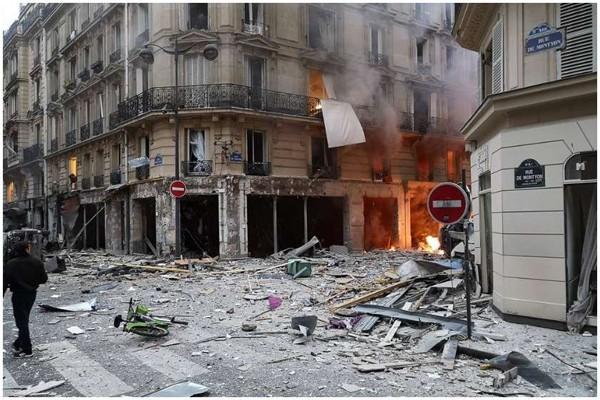 პარიზის ცენტრში ძლიერი აფეთქება მოხდა