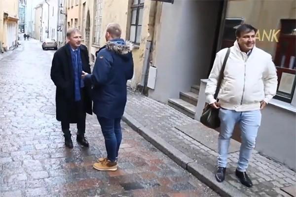 მიხეილ სააკაშვილი ეერიკ-ნიილეს კროსსთან ერთად ტალინში (ვიდეო)