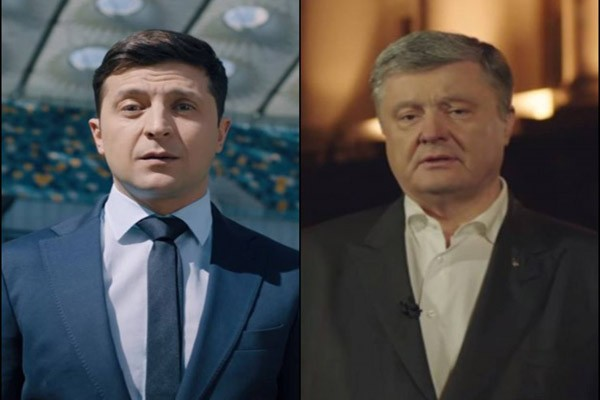 პოროშენკომ ზელენსკის გამოწვევა მიიღო - პრეზიდენტობის კანდიდატების დებატები სტადიონზე გაიმართება