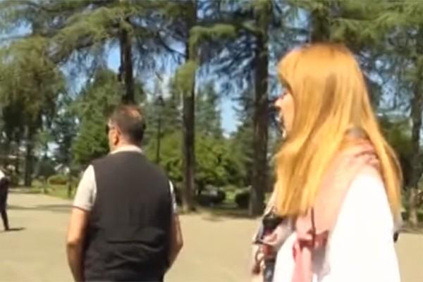 სანდრა რულოვს ზუგდიდში თავს დაესხნენ (ვიდეო)