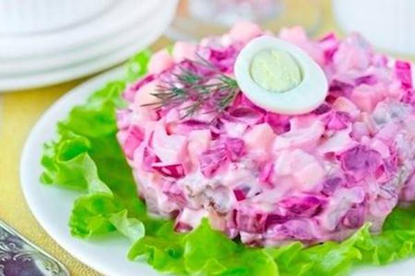 ჭარხლის და კვერცხის სალათა 15 წუთში