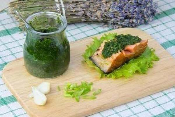 ქინძის სოუსი თევზისა და ხორცისთვის