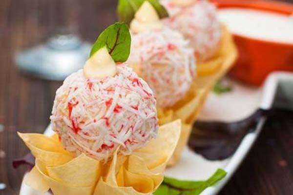 კიბორჩხალის ჩხირების სალათა-რაფაელო
