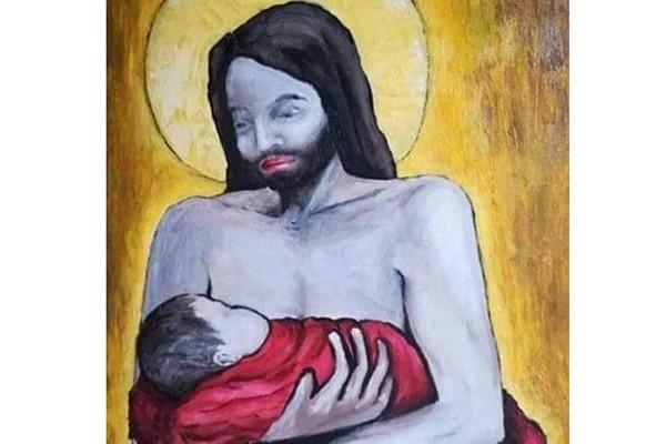 """""""ტრანსგენდერი იესო, პომადიანი ტუჩებით და ჩვილით - ქუთაისელი ლგბტ-აქტივისტის მორიგი სატანისტობა!"""