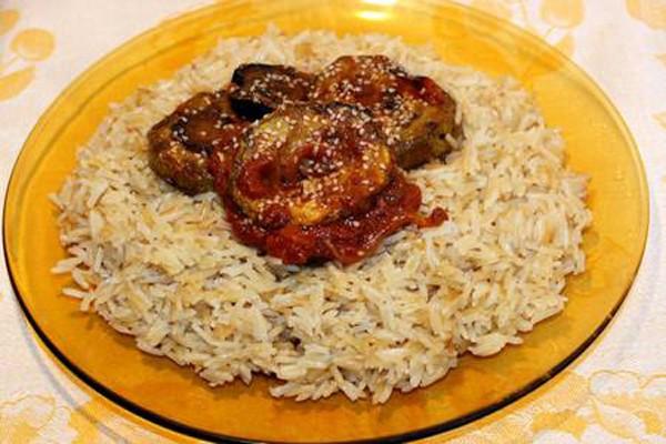 მოშუშული ბრინჯის გარნირი