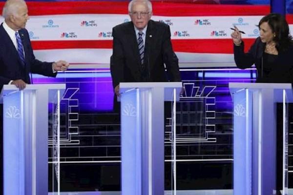 აშშ-ში პრეზიდენტობის დემოკრატ კანდიდატებს შორის დებატები გაიმართა