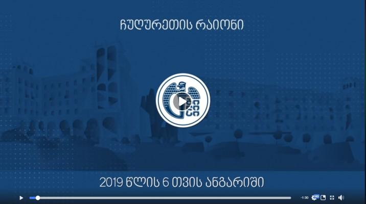 ჩუღურეთის რაიონის 2019 წლის 6 თვის ანგარიში