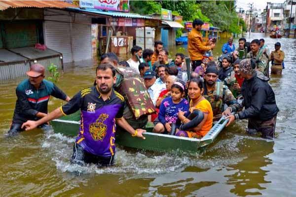 ინდოეთში წყალდიდობას 58 ადამიანი ემსხვერპლა