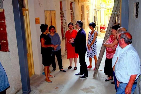 ქვლივიძის N34-ში სახლის გამაგრების სამუშაოები დასრულდა