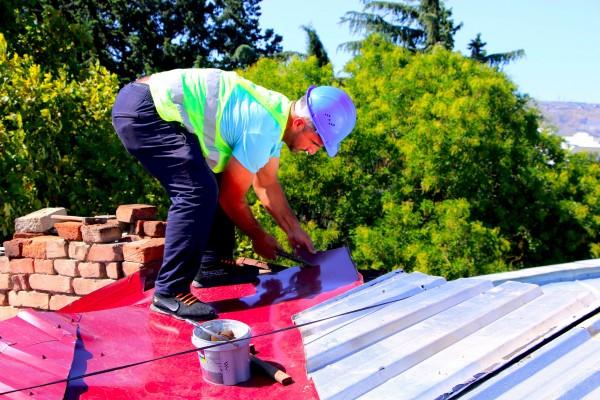 გოგოლის N5-ში სახურავის სარეაბილიტაციო სამუშაოები მიმდინარეობს