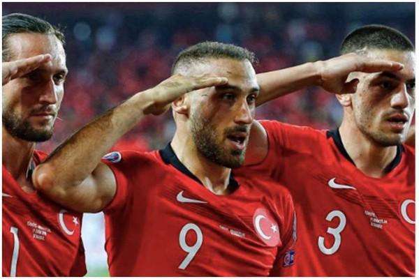 UEFA მატჩზე თურქი ფეხბურთელების მიერ სამხედრო მისალმებას შეისწავლის