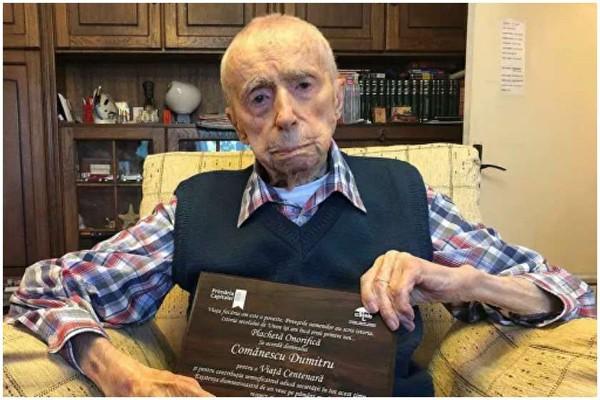 მსოფლიოში უხუცესი კაცი 111 წლის რუმინელი დიმიტრი კომანესკუ გახდა