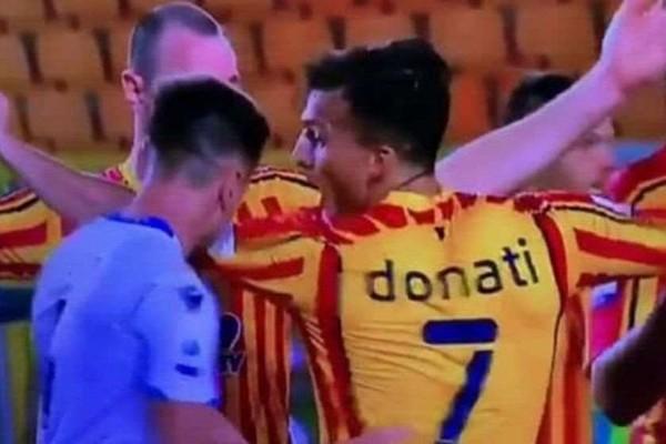 """""""ლაციოს"""" ფეხბურთელი პატრიკ გაბარონი მეტოქე გუნდის ფეხბურთელის კბენისთვის 4-მატჩიანი დისკვალიფიკაციით დაისაჯა"""