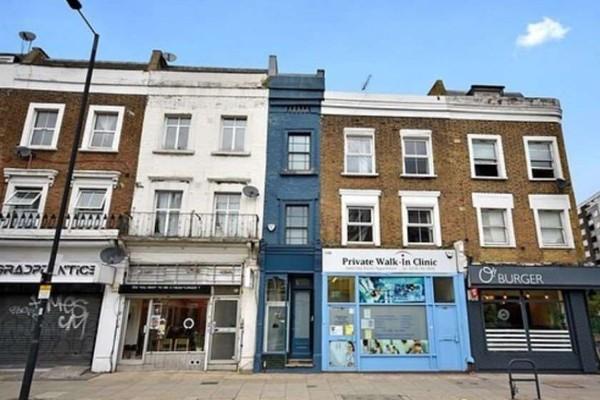 ლონდონის ყველაზე ვიწრო სახლი აუქციონზე გაიყიდება