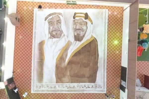 საუდის არაბეთში ქალმა ყავისგან ყველაზე დიდი ნახატი შექმნა და გინესის რეკორდების წიგნში მოხვდა