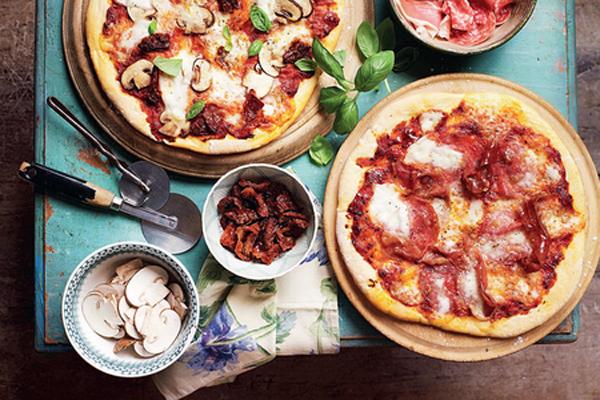 საოცრად გემრიელი სწრაფი პიცა სოკოთი და ლორით
