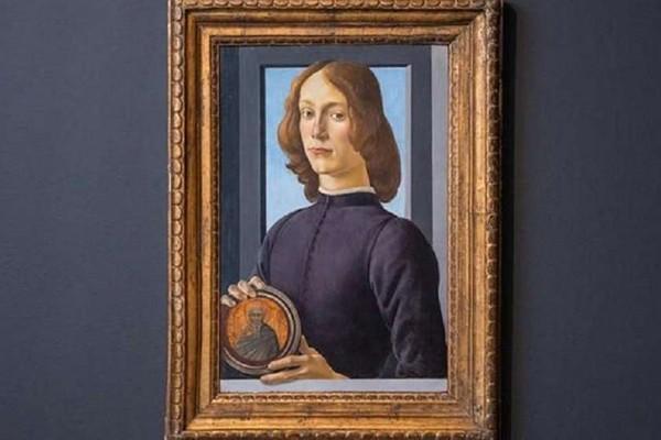 """ბოტიჩელის ნახატს """"ახალგაზრდა მამაკაცი მედალიონით ხელში"""" აუქციონზე გაყიდიან"""