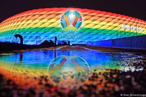 UEFA-მ მიუნხენის Allianz Arena-ს გერმანია-უნგრეთის მატჩის დროს სტადიონის ცისარტყელის ფერებში განათება აუკრძალა