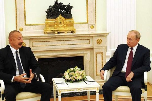 კრემლში რუსეთისა და აზერბაიჯანის პრეზიდენტების შეხვედრა გაიმართა