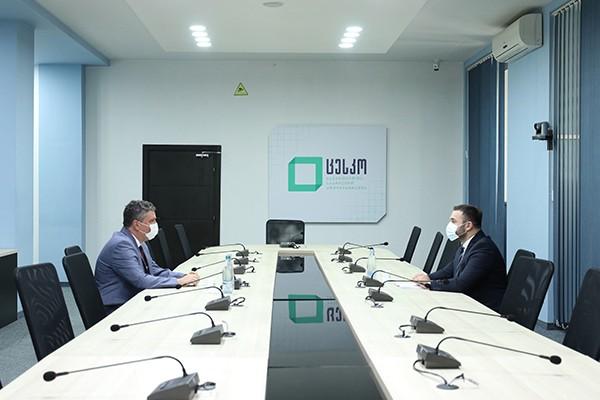 ცენტრალური საარჩევნო კომისიის თავმჯდომარე რუმინეთის ელჩს შეხვდა
