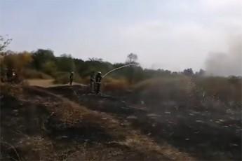 კურიოზი - სოფელ მაწიმში ხანძრის გაშუქების დროს მეხაძნძრემ ჟურნალისტს შემთხვევით წყალი შეასხა (ვიდეო)