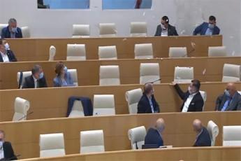 parlamentis-sxdomis-mimdinareobisas-samoqalaqo-aqtivistebma-sxdomaTa-darbazSi-furclebi-gadayares